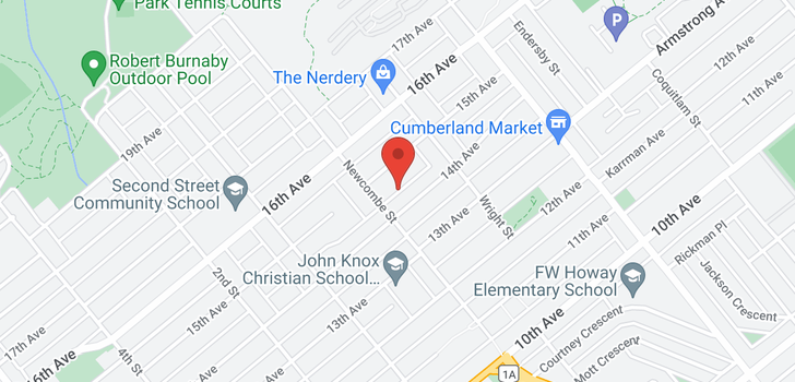 map of 8323 14TH AVENUE