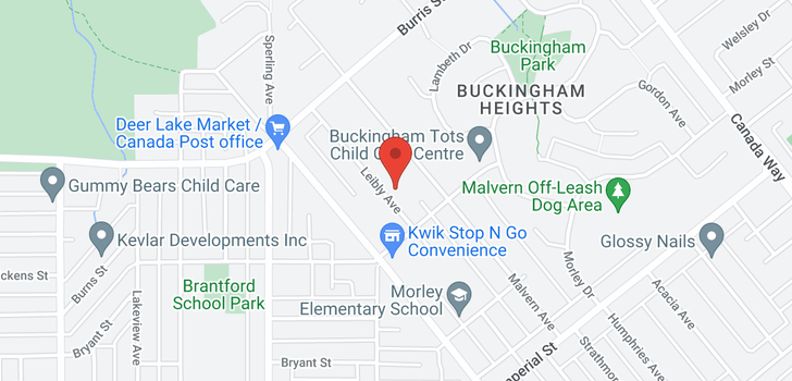 map of 6192 LEIBLY AVENUE