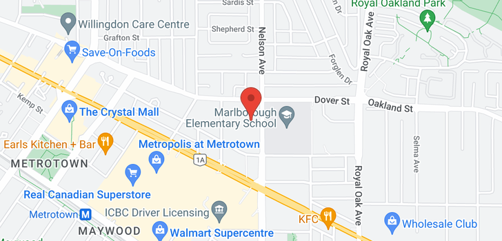 map of 1005 6055 NELSON AVENUE