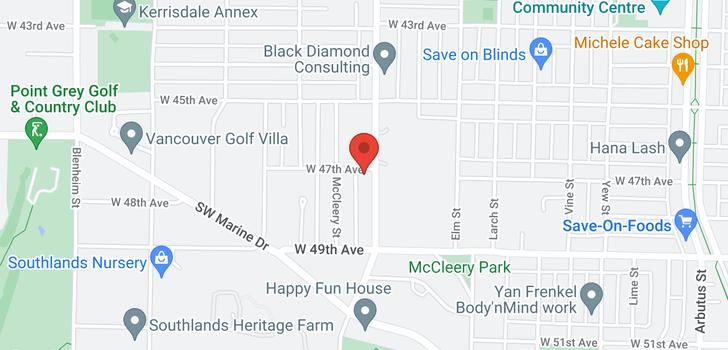 map of 6309 MACDONALD STREET