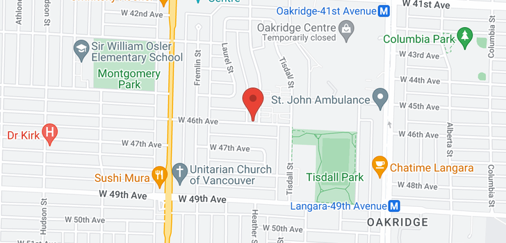 map of 805 W 46TH AVENUE