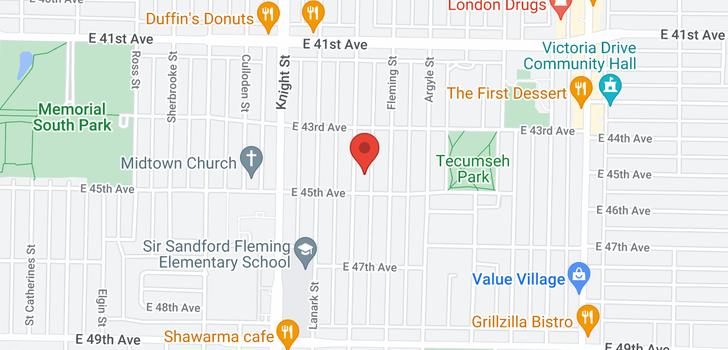 map of 6018 DUMFRIES STREET
