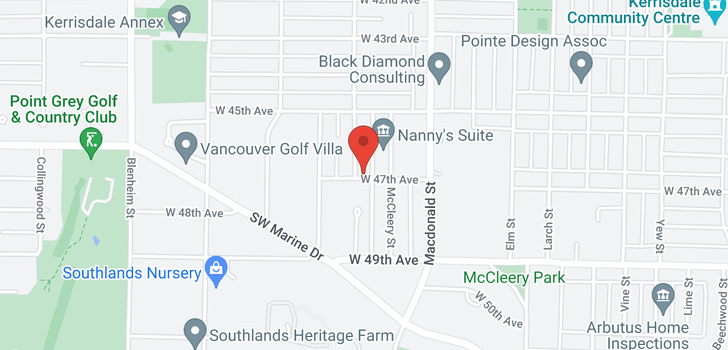 map of 2895 W 47TH AVENUE