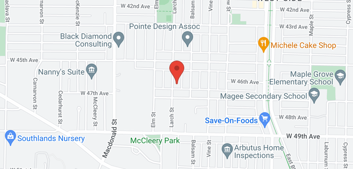 map of 6242 LARCH STREET