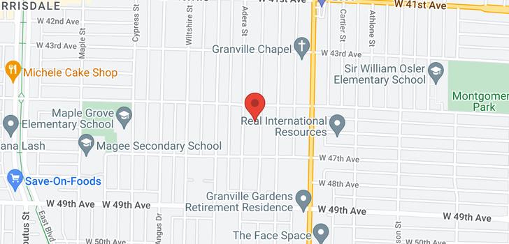 map of 6162 ADERA STREET