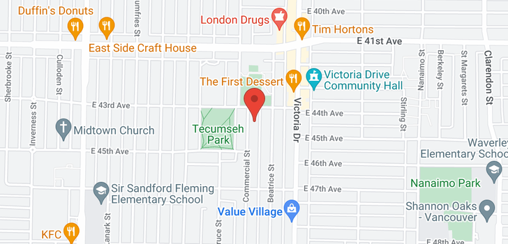 map of 5954 COMMERCIAL STREET
