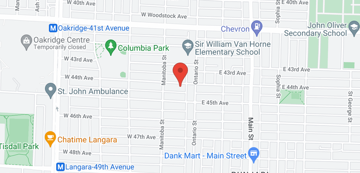 map of 38 W 44TH AVENUE