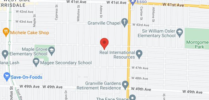 map of 6138 ADERA STREET