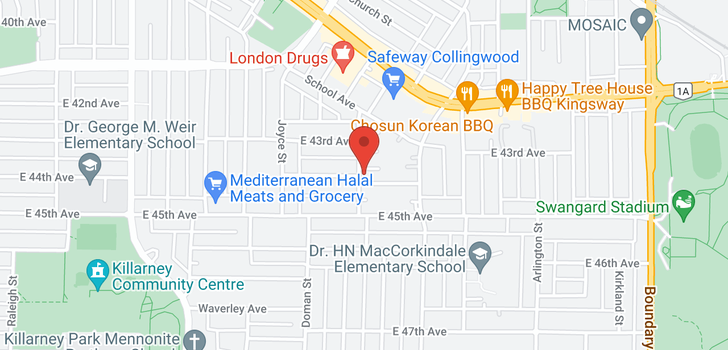 map of 3303 E 44TH AVENUE