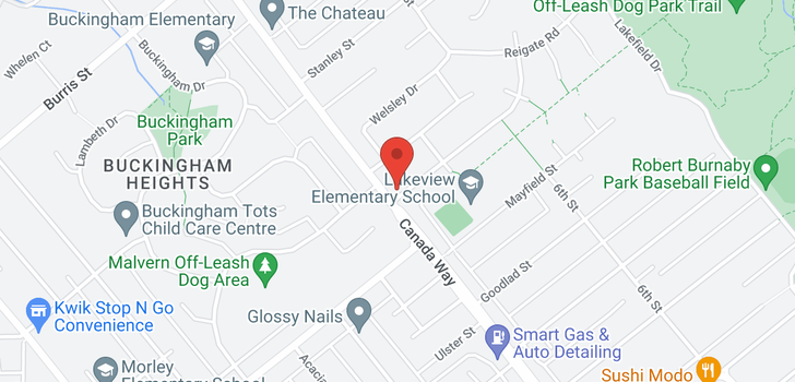 map of 7725 BERKLEY STREET