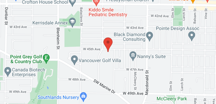 map of 2966 W 45TH AVENUE