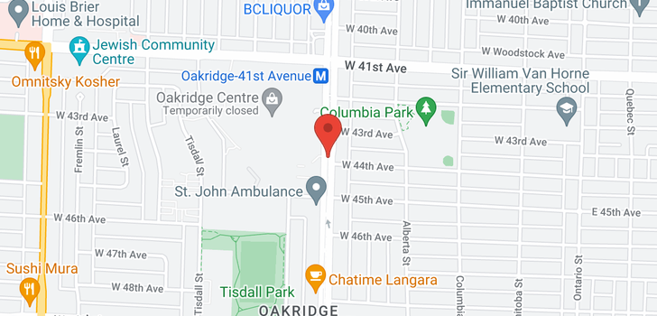 map of 308 588 W 45TH AVENUE