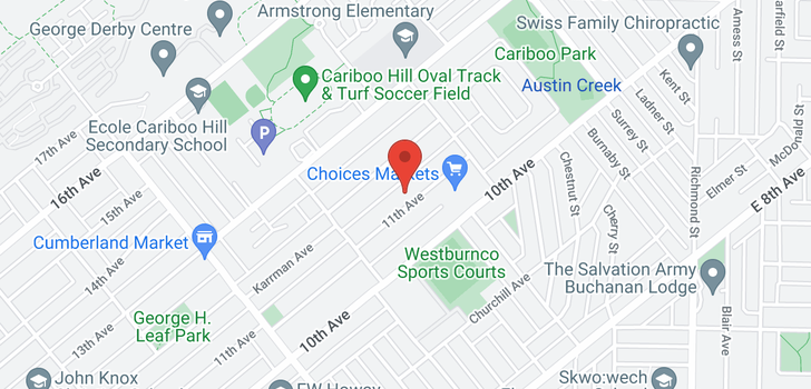 map of 8649 11TH AVENUE