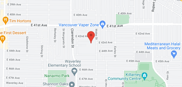 map of 2661 E 43RD