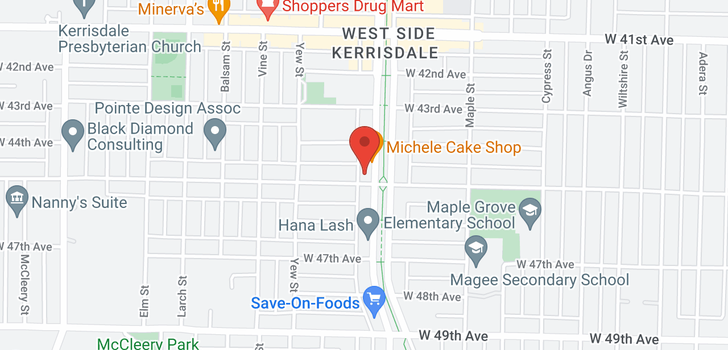 map of 302 2103 W 45TH AVENUE