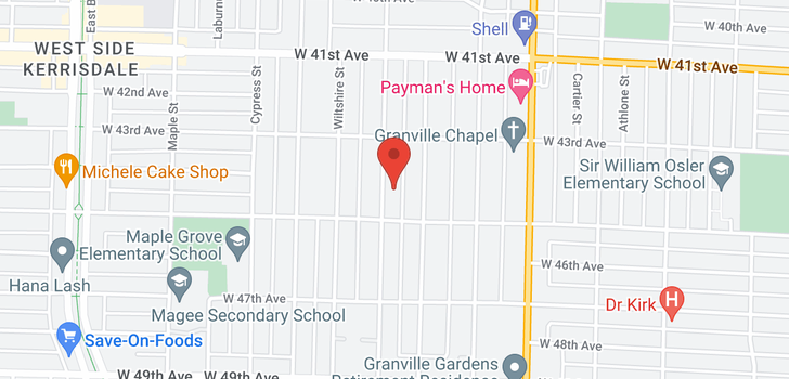 map of 6038 MARGUERITE STREET