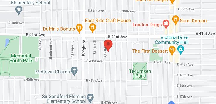 map of 5838 DUMFRIES STREET