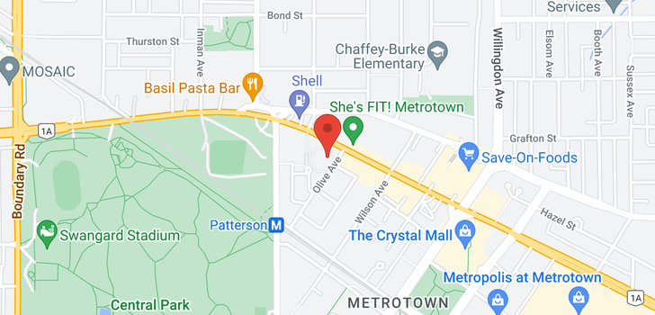 map of 1001 5885 OLIVE AVENUE