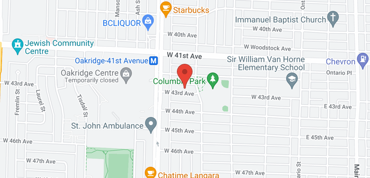 map of 407 W 43RD AVENUE