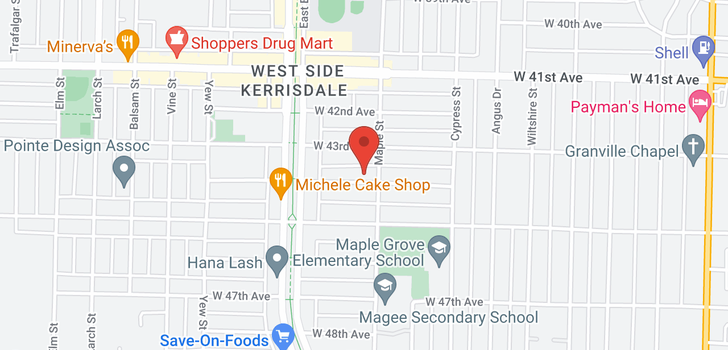 map of 2015 W 44TH AVENUE