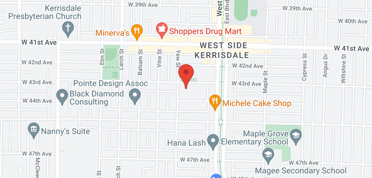 map of 101 2180 W 43RD AVENUE