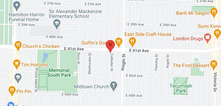 map of 5715 CULLODEN STREET