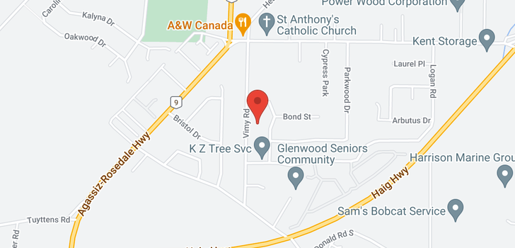map of 1562 VIMY ROAD