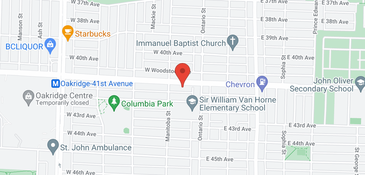 map of 56 W 41ST AVENUE