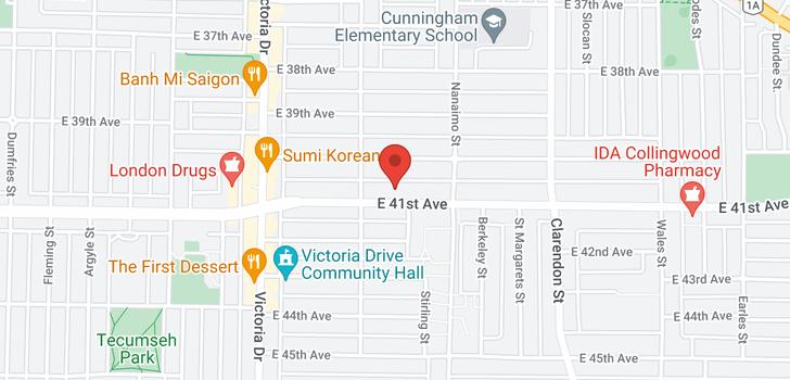 map of 2241 E 41ST AVENUE