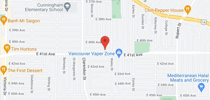 map of 2681 E 41ST AVENUE