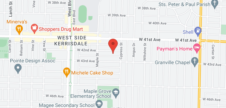 map of 1930 W 42ND AVENUE