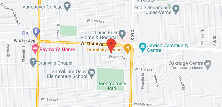 map of 1125 W 42ND AVENUE