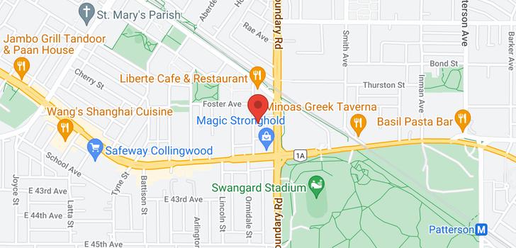map of 701 5598 ORMIDALE STREET