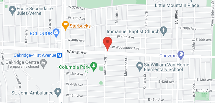 map of 195 W 41ST AVENUE
