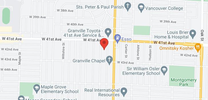 map of 5788 CHURCHILL STREET