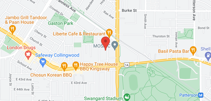 map of 306 3651 FOSTER AVENUE
