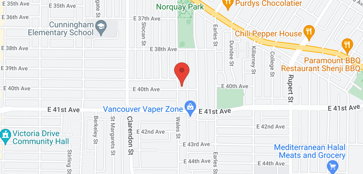 map of 5592 WALES STREET