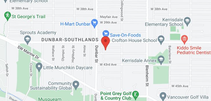 map of 3577 W 42ND AVENUE