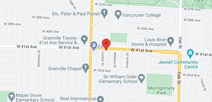 map of 5716 CARTIER STREET