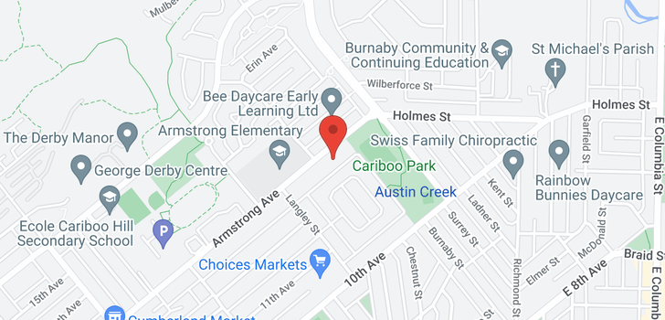 map of 8842 ARMSTRONG AVENUE