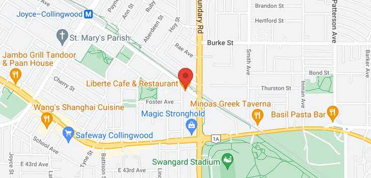 map of 305 5470 ORMIDALE STREET