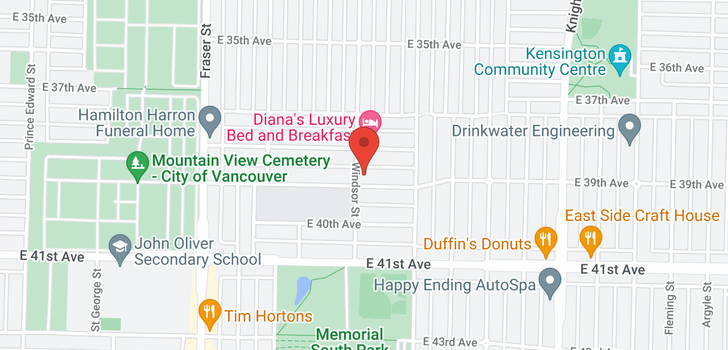 map of 1011 E 39TH AVENUE