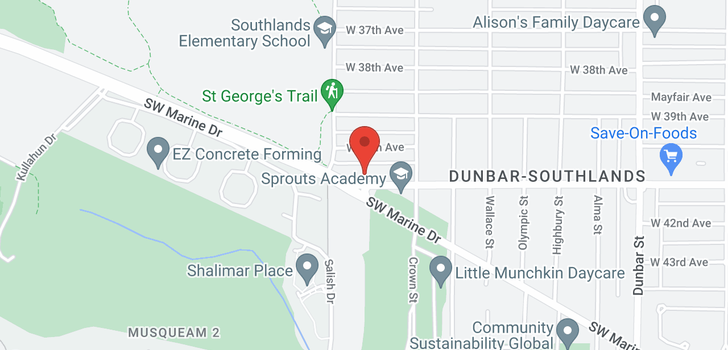 map of 4063 W 41ST AVENUE