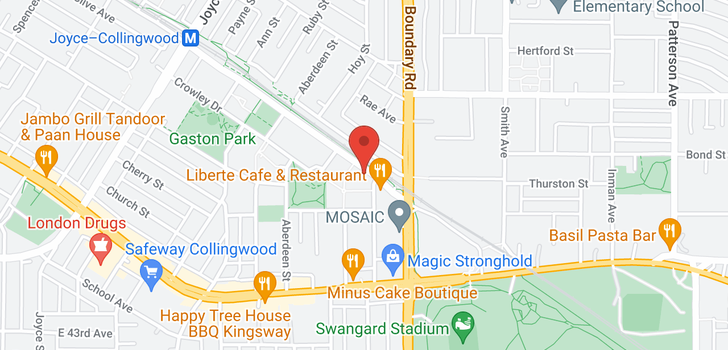 map of 2206 3660 VANNESS AVENUE