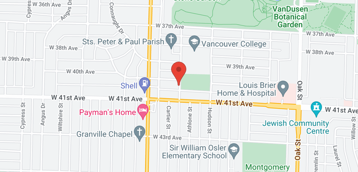 map of 1406 W 40TH AVENUE