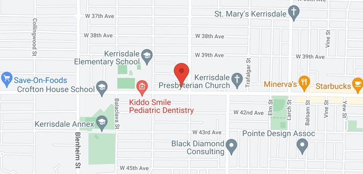 map of 2921 W 41ST AVENUE