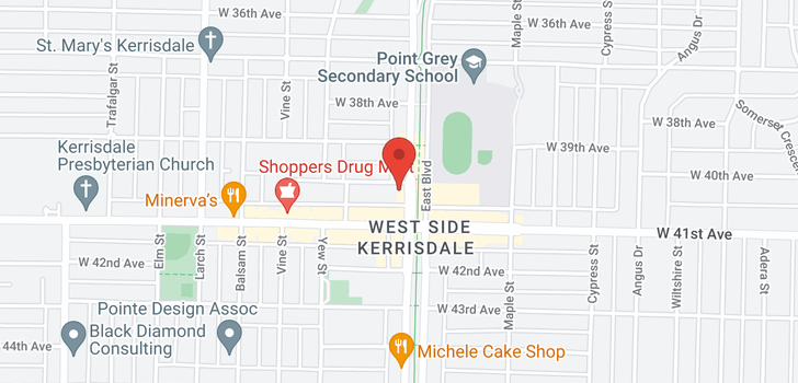 map of 312 2128 W 40TH AVENUE
