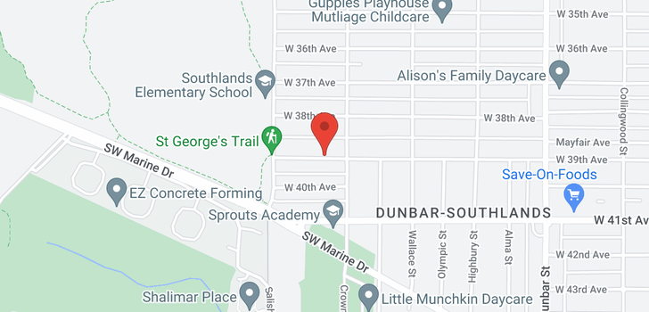 map of 4025 W 39TH AVENUE