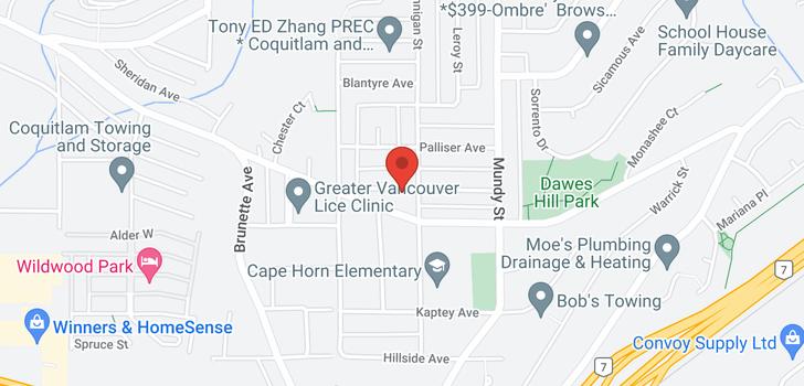 map of 2089 DAWES HILL ROAD