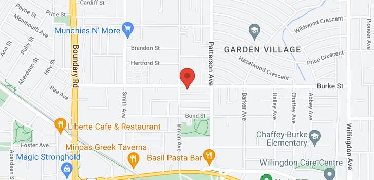 map of 4016 BURKE STREET